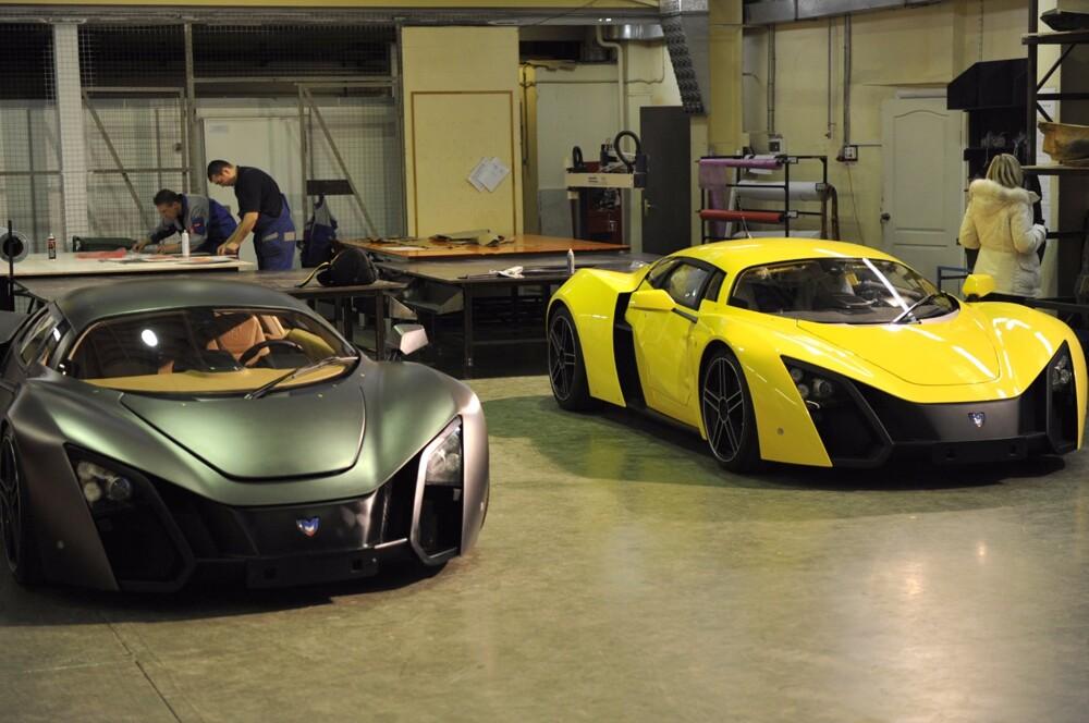 Выставлены на реализацию автомобили Marussia