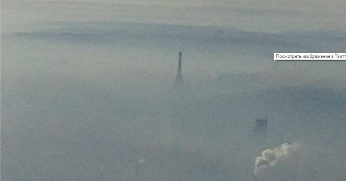 Фото дня: Париж накрыл небывалый смог