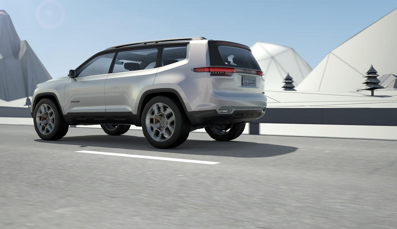 Большой внедорожник Jeep Cherokee