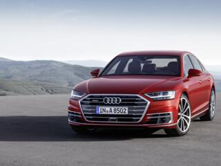 Audi протестировала новоиспеченную A8 c поддержкой ведра воды и сигары