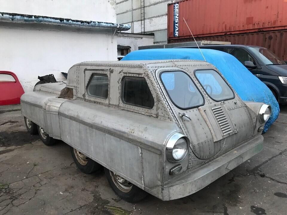Советский вездеход 8х8, сделанный из «Победы»