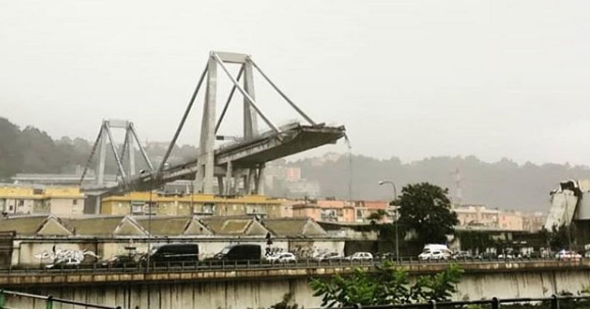 i - В Италии вместе с автомобилями рухнул мост (фото)
