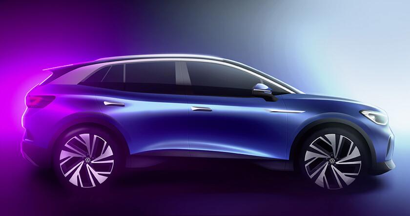 Volkswagen представил дизайн первого электрического кроссовера - автоновости