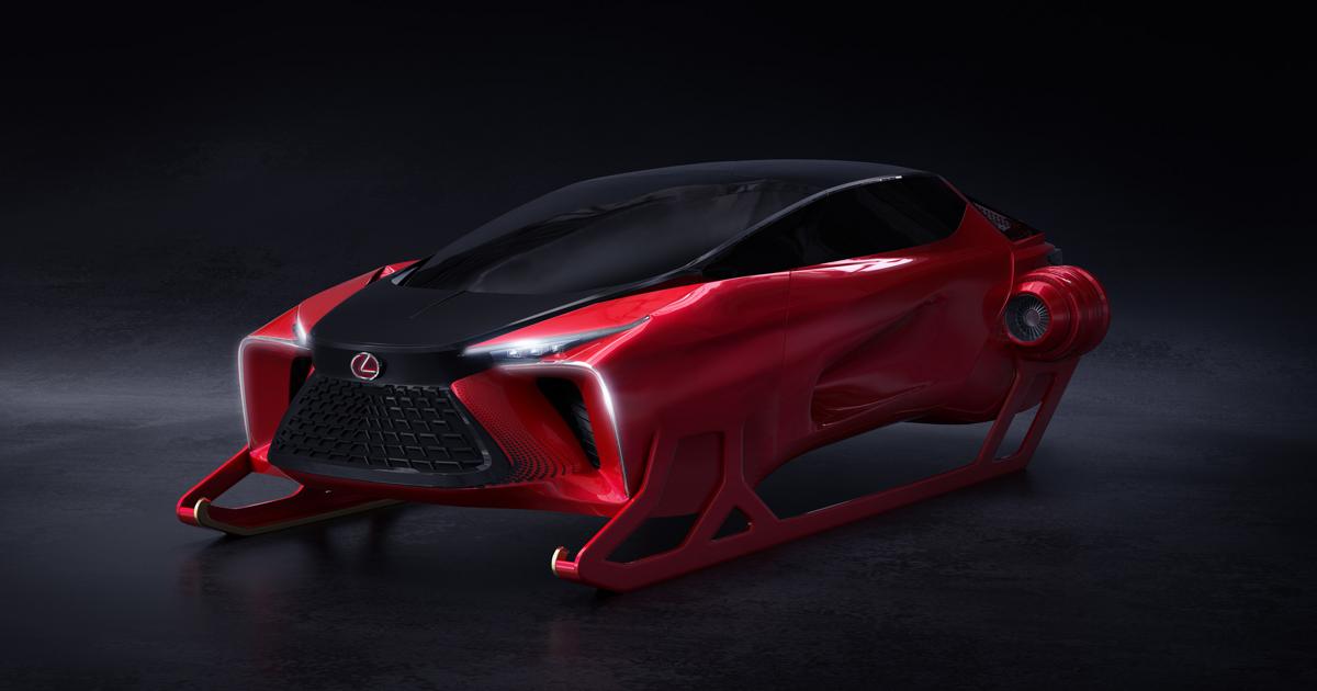 Lexus показал реактивные сани с бесконечным багажником