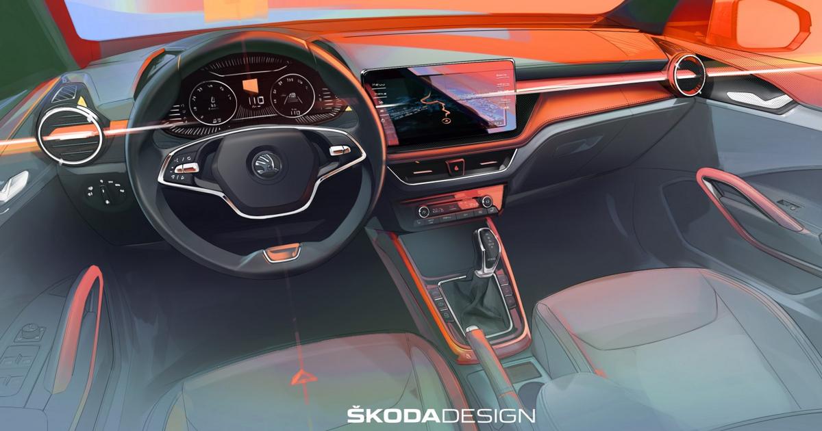 Skoda показала первое изображение салона новой Fabia - автоновости