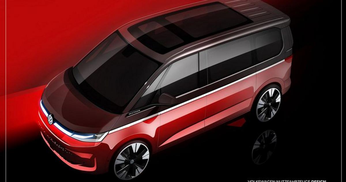 Volkswagen раскрыл дизайн нового Multivan - автоновости