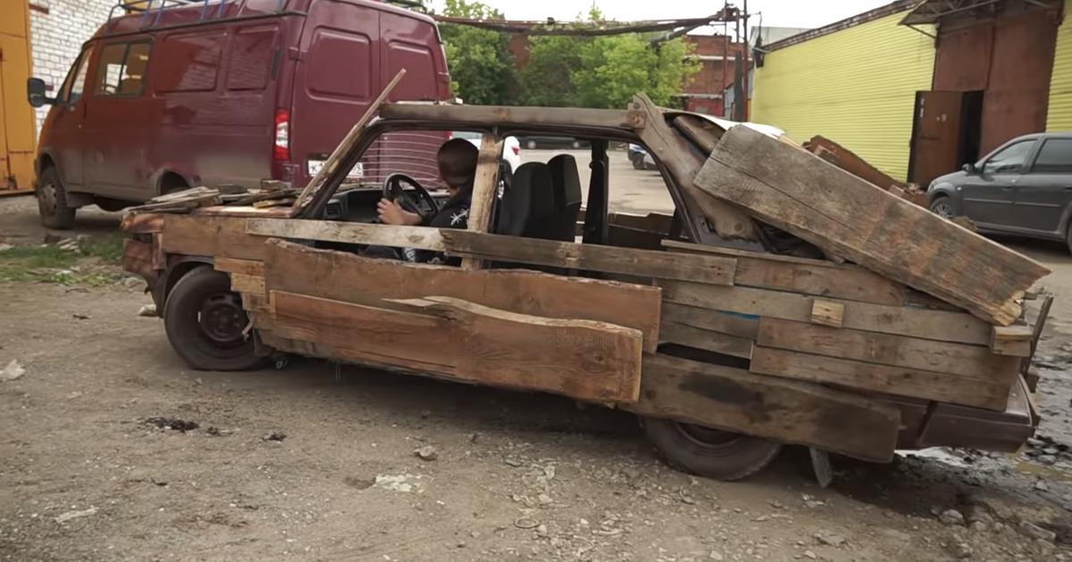 Поездка на деревянных «Жигулях» обернулась тремя штрафами (видео) - автоновости
