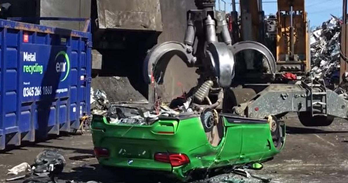 Полиция уничтожила уникальный универсал BMW M3 (видео) - автоновости