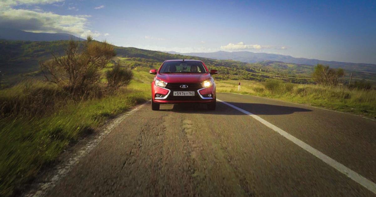 Lada Vesta: самый красивый тест-драйв